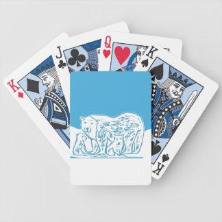 Polar Bears Playing Cards