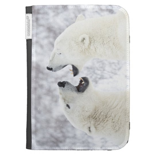 Polar Bears playing in the snow Kindle 3 Cover