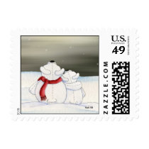 Polar Bears Postage Stamp