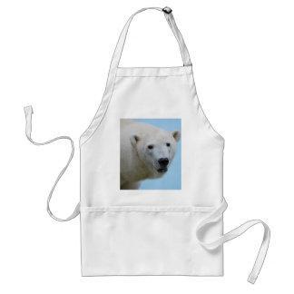 Polar bears profile adult apron