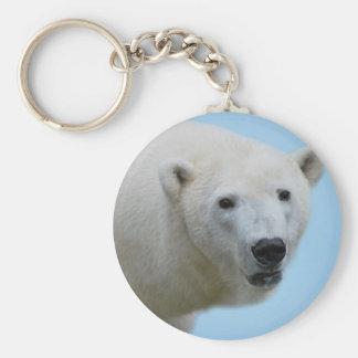 Polar bears profile keychain