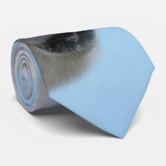 Polar bears profile neck tie