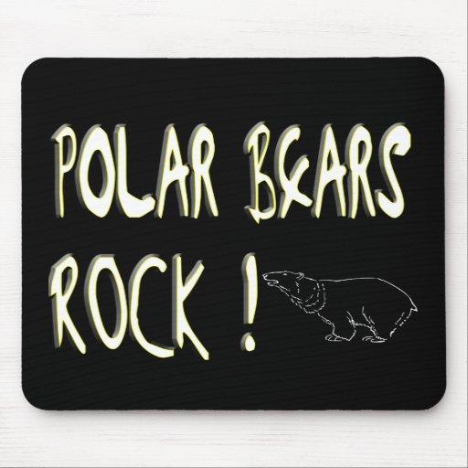 Polar Bears Rock! Mousepad