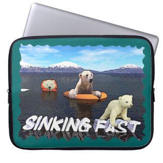 Polar Bears - Sinking Fast Computer Sleeves