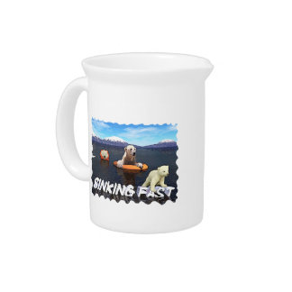 Polar Bears - Sinking Fast Drink Pitcher
