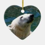 Polar bears smile christmas tree ornaments