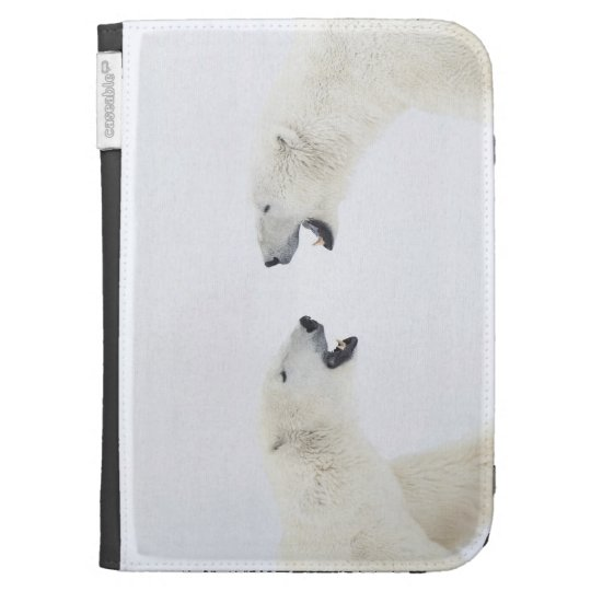 Polar Bears standing on snow after playing Cases For Kindle