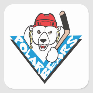 Polar Bears Square Sticker