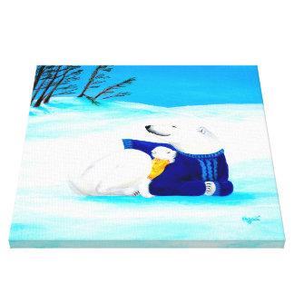 Polar Bears | Super Cute Mom & Baby Nursery Canvas Print