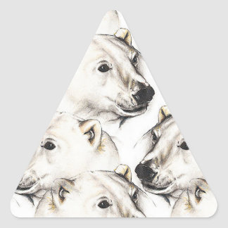 Polar Bears Triangle Sticker
