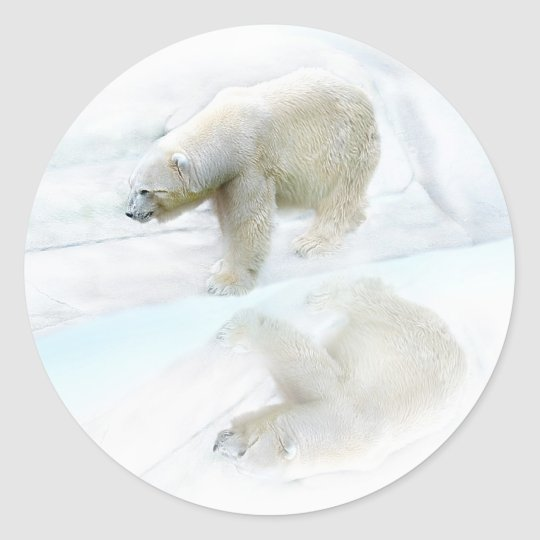 Polar bears walk to freedom classic round sticker