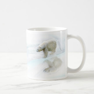 Polar bears walk to freedom coffee mug
