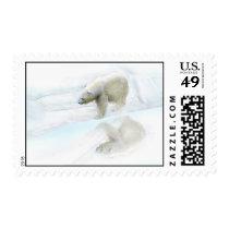Polar bears walk to freedom postage