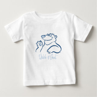Polar Bear's Wild Smile Baby T-Shirt
