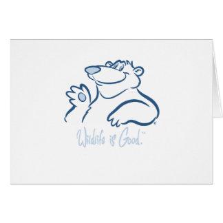 Polar Bear's Wild Smile Card