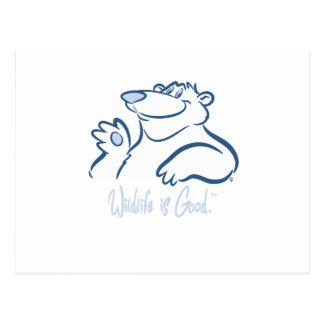 Polar Bear's Wild Smile Postcard