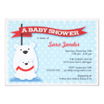 "Polar Bears | Winter Baby Shower Invitations 5"" X 7"" Invitation Card"