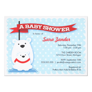 Polar Bears   Winter Baby Shower Invitations