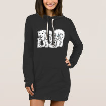 Polar Bears Women's Hoodie Dress