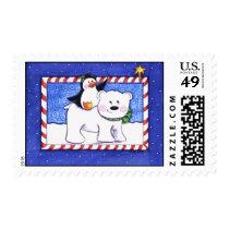Polar Buddies Postage