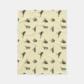 polar cover baby birds fleece blanket