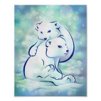 Polar Cuteness Print