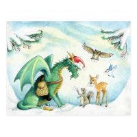 Polar Express Dragon - postcard