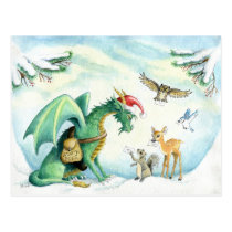 Polar Express Dragon - postcard