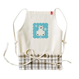 Polar Friend Zazzle HEART Apron
