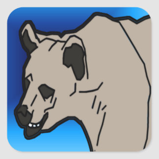 Polar Head Square Sticker