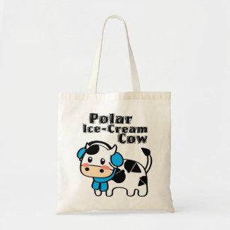 Polar Ice-Cream Cow Tote Canvas Bags