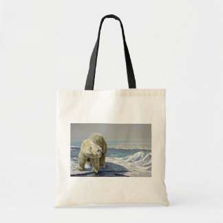 Polar ice flow budget tote bag