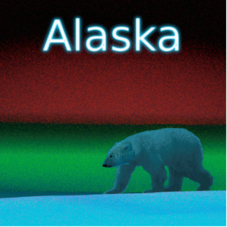 Polar Lights Polar Bear - Alaska Cutout