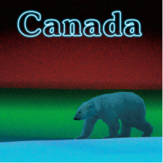 Polar Lights Polar Bear - Canada Cutout