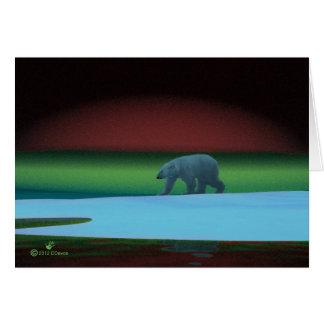 Polar Lights Polar Bear Card