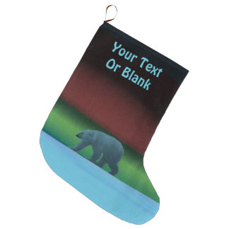Polar Lights Polar Bear Large Christmas Stocking