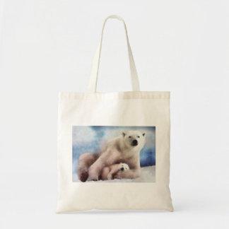 Polar Mom and Cub Budget Tote Bag