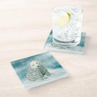 Polar North Alaskan Polar Bear Glass Coaster