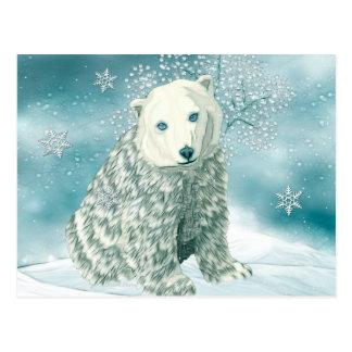Polar North Alaskan Polar Bear Postcard