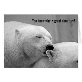 Polar Opposites Bear Love You Card