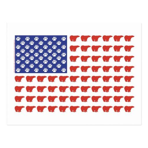 Polar-Oso-Bandera [1] Tarjeta Postal