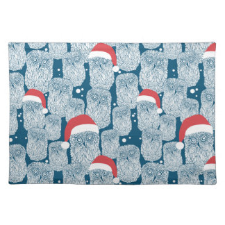 Polar Owls In Christmas Cloth Placemat