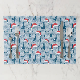 Polar Owls In Christmas Paper Placemat
