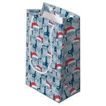 Polar Owls In Christmas Small Gift Bag