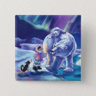 Polar Pals Pinback Button