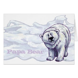 Polar Papa Bear Greeting Card