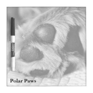Polar Paws,Golden Retriever Square Dry Erase Board