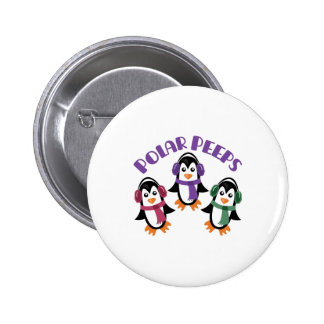 Polar Peeps 2 Inch Round Button