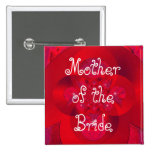 polar red, Mother of the Bride 2 Inch Square Button