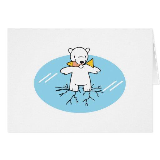 polar refiera el hielo agrietado felicitación